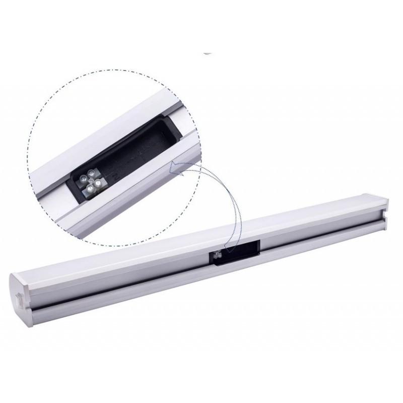 Projecteur LED rectangulaire rail triphasé 38W