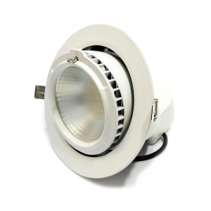 Spot LED encastrable rond 38W orientable. Downlight escargot