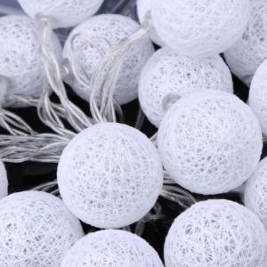 éclairage décoratif boule de coton