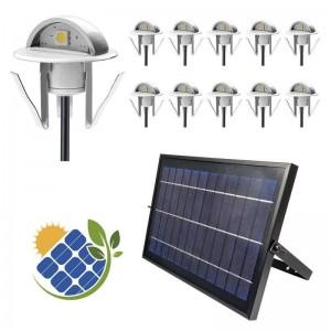 spots solaires LED encastrables avec panneau