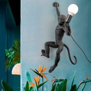 Lampe murale singe