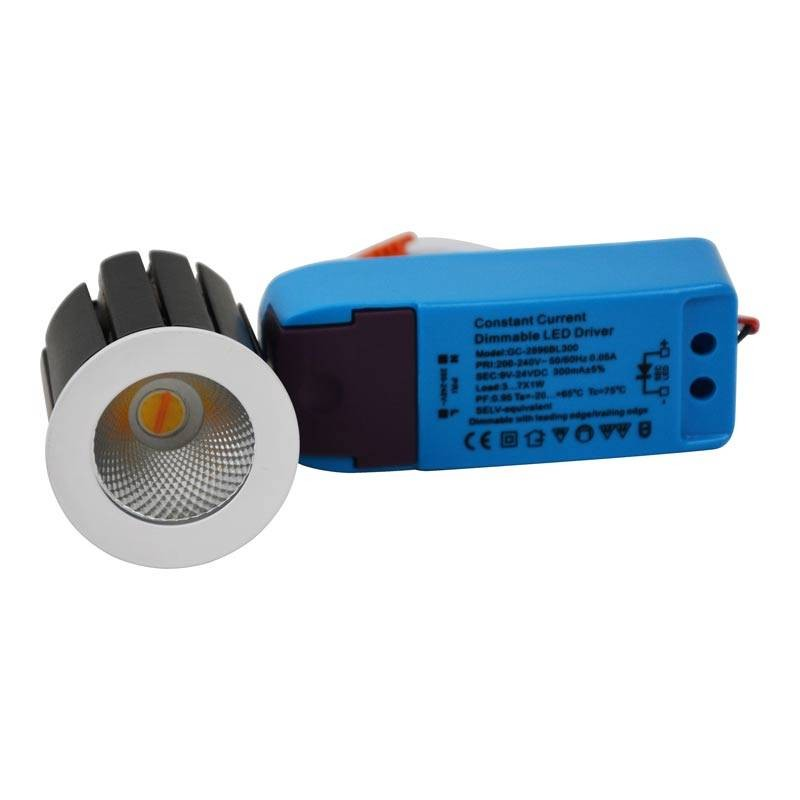 Spot LED 6W COB CCT Régulable Chaud à ultra-chaud