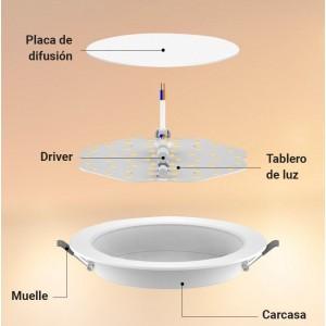 Suspension pour boule lumineuse LED