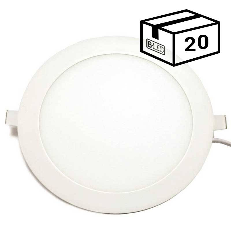 PACK Spot LED encastrable extra-plat rond 20W (20 u.)