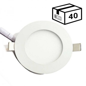 PACK Spot LED encastrable extra-plat rond 6W (40 u.)