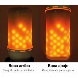 ampoule effet feu