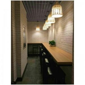 lampes suspendues osier couloir