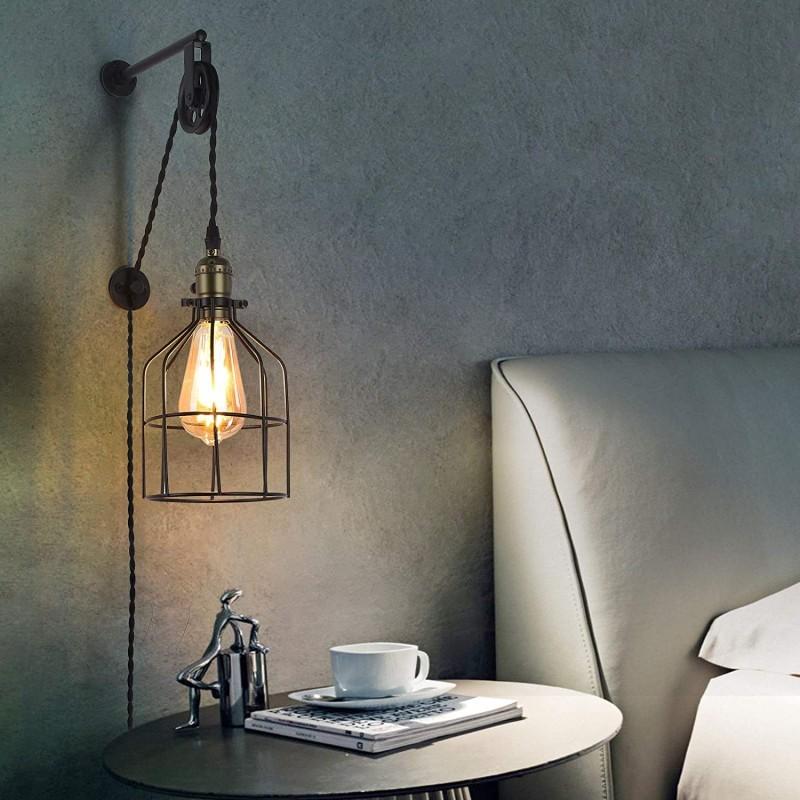 Lampe suspendue style industriel