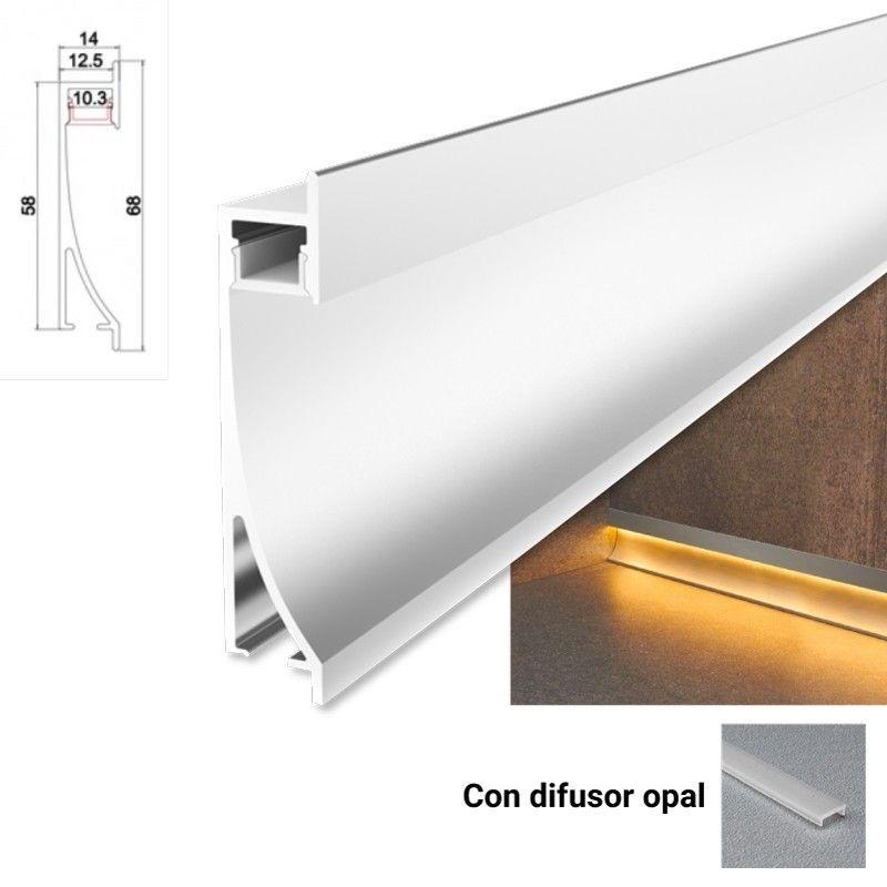Embout de finition pour le profilé encastrable lèche-mur de 26x78mm (1 u)