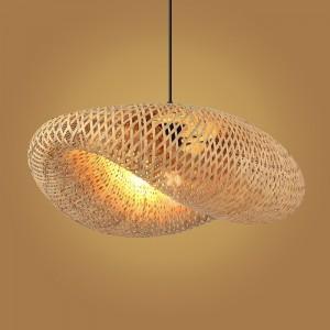 lampe suspendue en osier