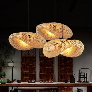 lampes suspendues en osier