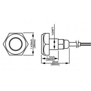 Spot LED encastrable 27W 9-32V pour bouchon de vidange
