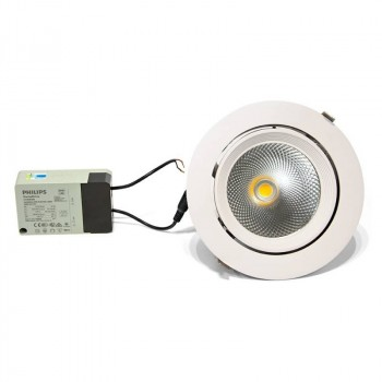 DOWNLIGHT LED CIRCULAR EMPOTRABLE BASCULANTE 32W 230V