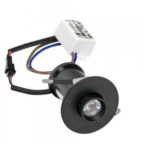 Spot LED encastrable 3W fixe/orientable