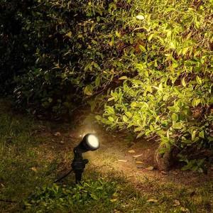 Spot de jardin sur piquet ampoule GU10