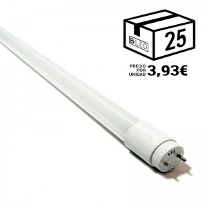 PACK Tube LED T8 60 cm en verre 9W Opale (25 u.)