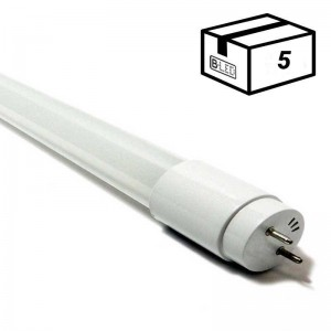 PACK Tube LED T8 60cm en verre 9W Opale (5 u.)