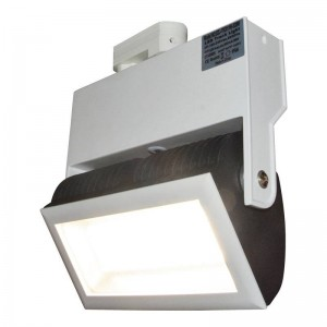 Projecteur LED rectangulaire rail triphasé 38W
