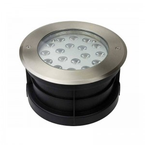 Spot de sol encastrable LED Blanc chaud IP67 18W 12V