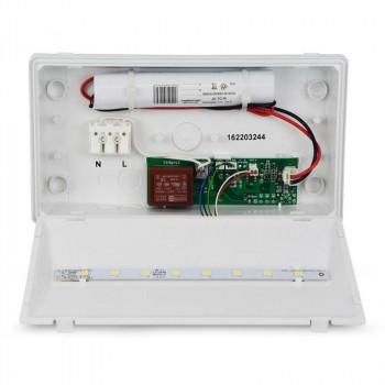 Luminaria Evacuación LED empotrable (1h autonomía)