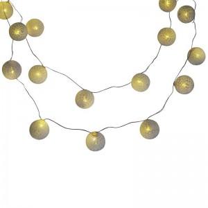 Guirlande LED boules en coton