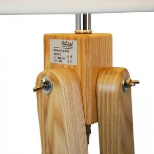 Lampadaire trépied en bois