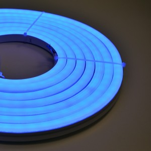 NEON LED FLEXIBLE 24V IP65 RGB 60W 90º SMD 5050 5 MÈTRES (kit  de montage inclus)