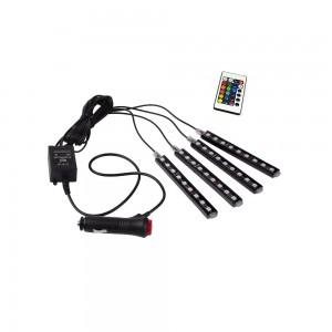 Kit LED pour automobile RGB 12V avec contrôle par télécommande IR