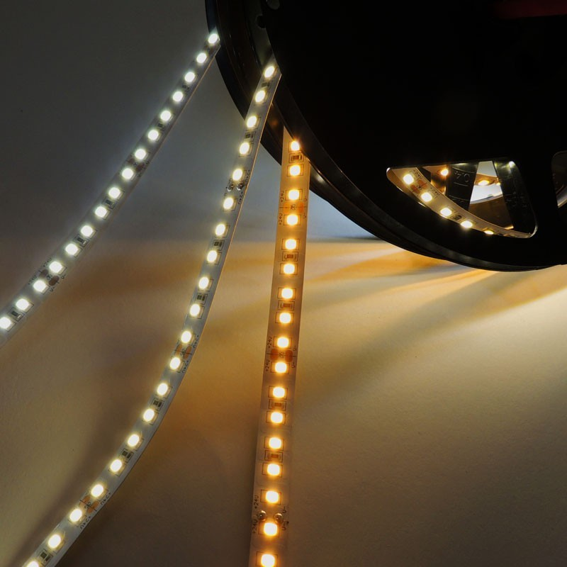 Ruban LED 24V DC SMD 2835 90W IP20 5M (BF, BN ou BC)