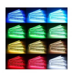 Kit LED pour automobile RGB 12V avec contrôle par application Wifi