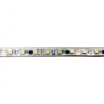 RUBAN LED IC DIGITAL 12V DC 72W 10MM 5 MÈTRES BLANC FROID 6000K IP67 (SMD5050 60CH/M)