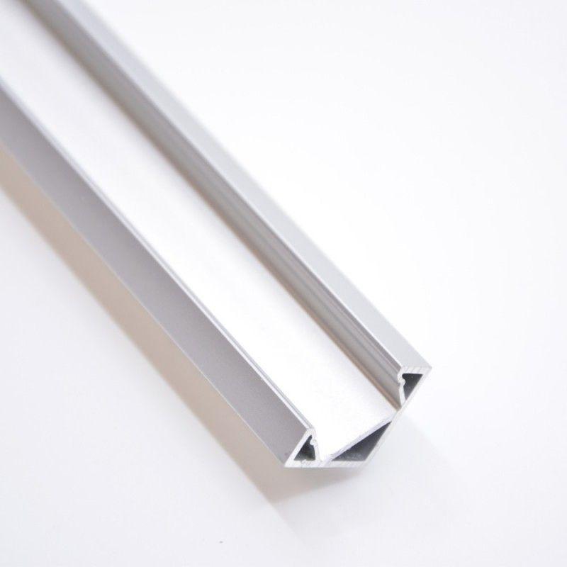 Profilé en aluminium pour angle à 45º 19x19mm
