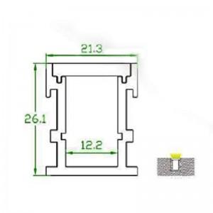 Profilé encastrable pour sol IP67 de 21x26mm