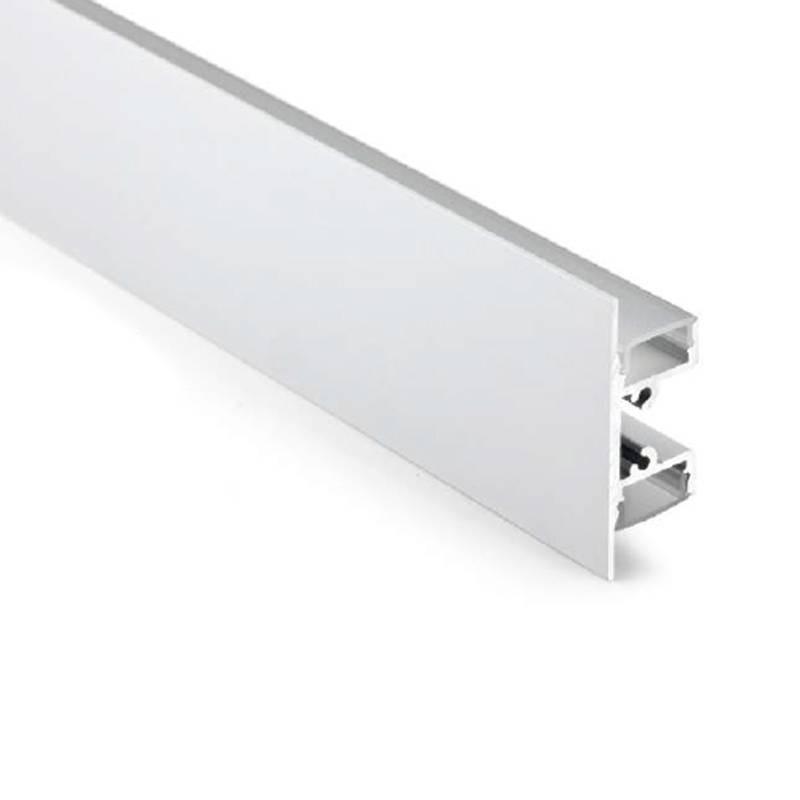 Profilé de surface type léche-mur haut/bas 18x49mm (2 m)