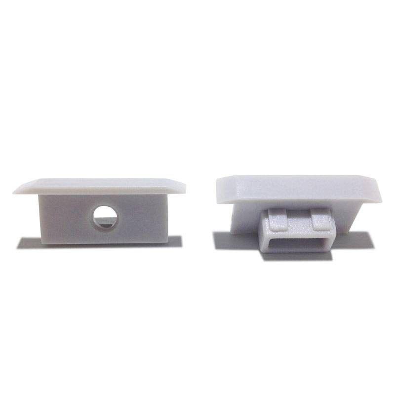 Embouts pour profilé encastrable pour sol IP67 de 27x11mm (1 U)