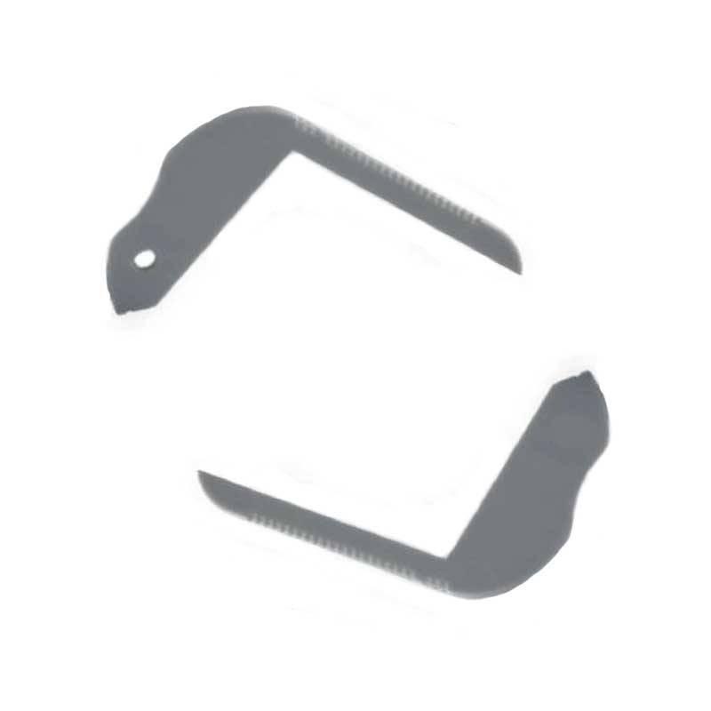 Embouts de finition pour profilé d'escaliers 80x50mm (1U)