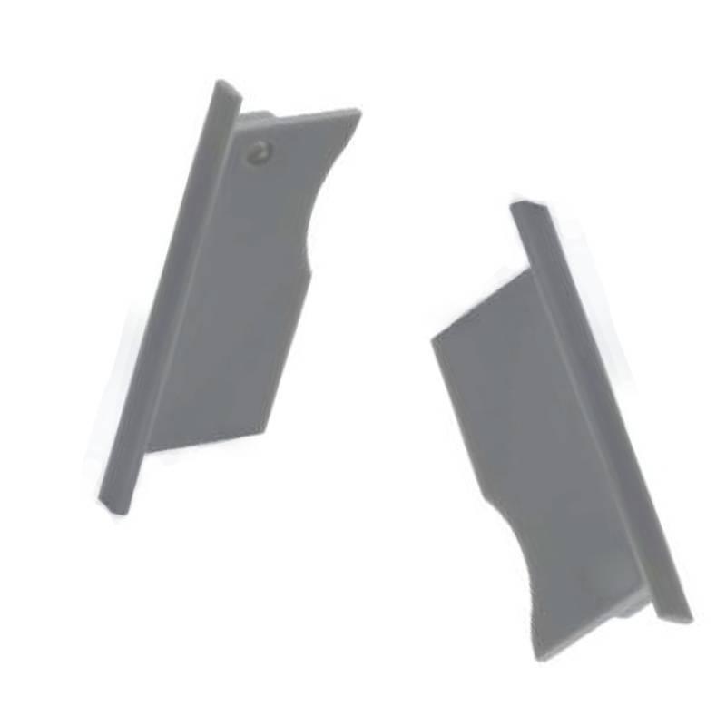 Embout pour profilé encastrable lèche-mur de 26x78mm (1U)