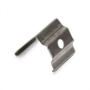 Clip de fixation en métal pour profilé d'angle 16 x 16 mm