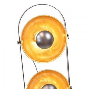 Lampe vintage Copernic avec trois têtes dorées E27