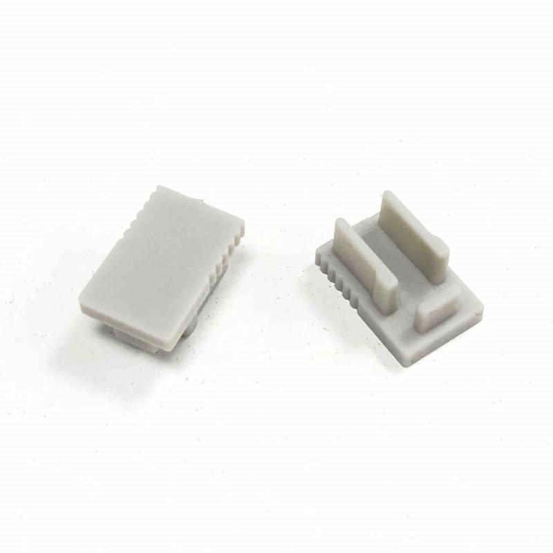 Embout profil aluminium 8X12mm (1U)