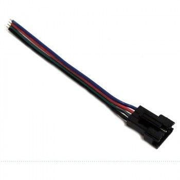 Connecteur rapide RGB à quatre broches mâle pour ruban RGB (Noir/Vert/Rouge/Bleu)