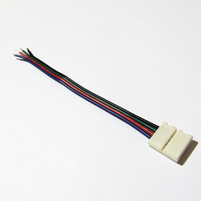Connecteur ruban LED RGB 10mm  avec câble