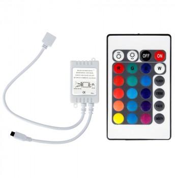Contrôleur RGB 12V 6A avec télécommande IR 24 touches