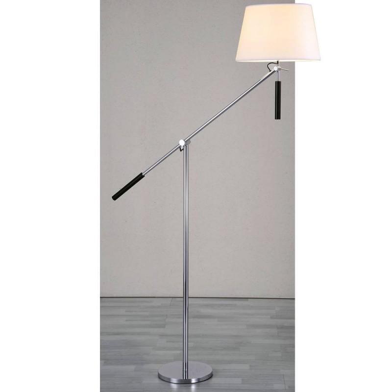 """LAMPE SUR PIED AVEC BRAS ARTICULÉ CHROMÉ """"ARM2"""" E27"""