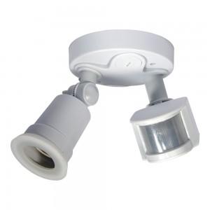 Douille E27 détecteur de présence PIR intégré IP44
