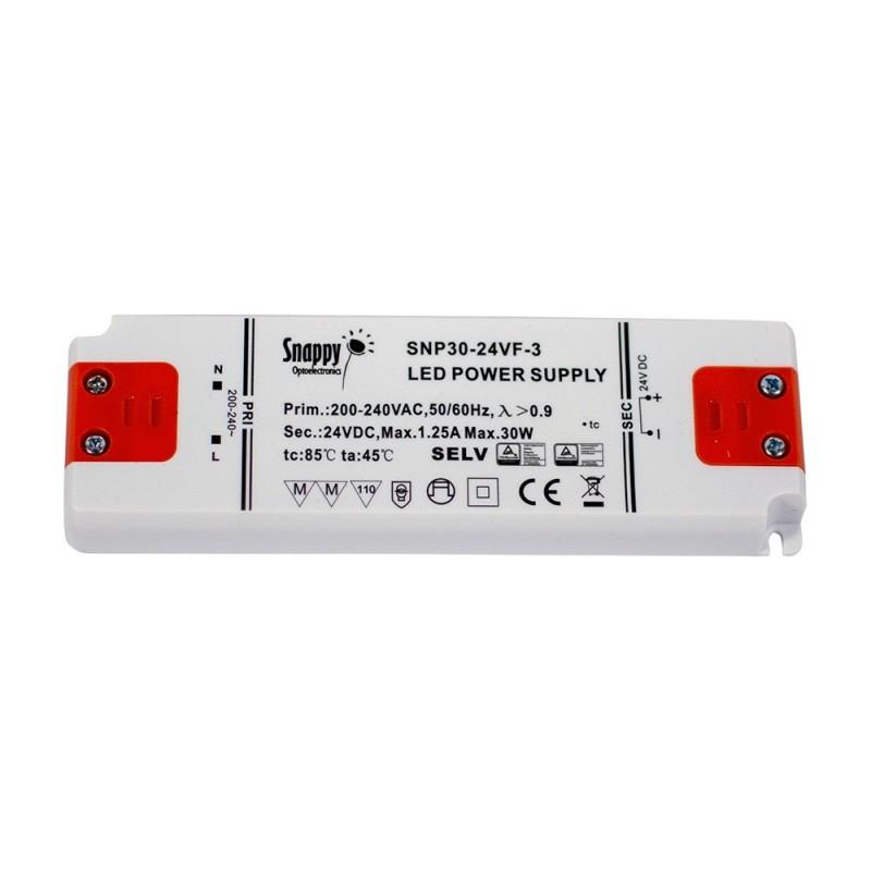 Transformateur 24V 30W 1.25A IP20 ultra fin