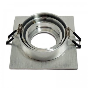 Support spot encastrable carré basculable pour dichroïque LED