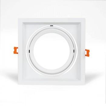 Cardan aluminium pour une ampoule QR111 LED Basculable 175x175 mm