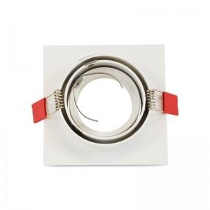 Support encastrable carré ampoule LED GU10 orientable