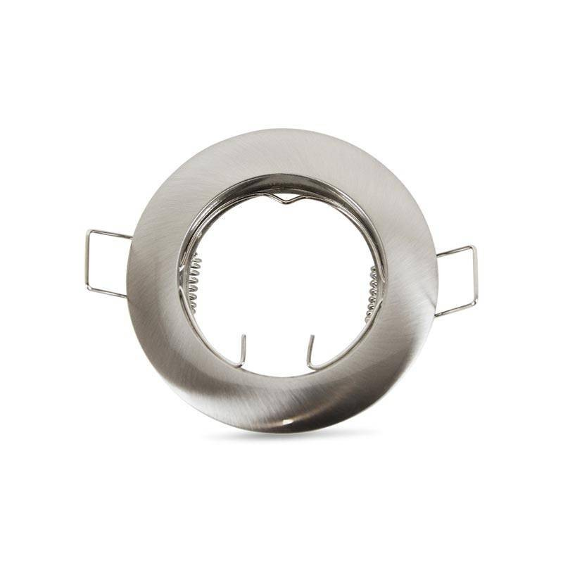 Support GU10 / GU5.3 encastrable rond en aluminium